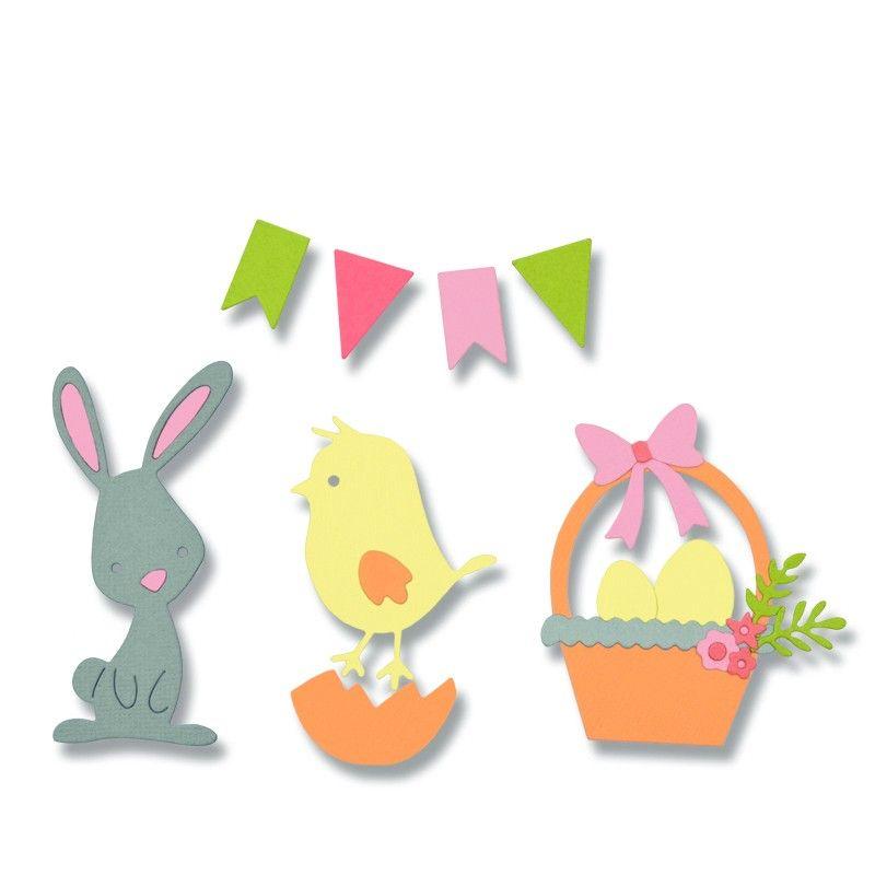 Sizzix Thinlits Die Set 17PK - Easter