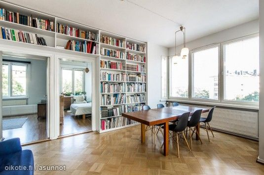 Myytävät asunnot, Mannerheimintie 53 Taka-Töölö Helsinki #ruokailutila #oikotieasunnot