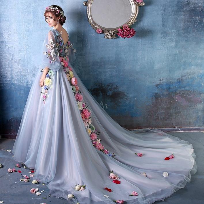 Light Blue Long Court Medieval Dress Renaissance Gown Princess ...