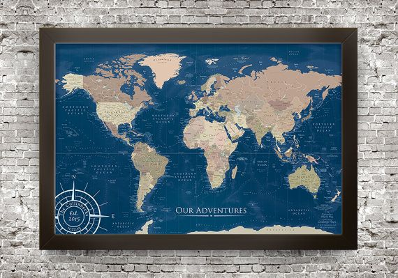 The columbus navy blue world map this epic map is named after the the columbus navy blue world map this epic map is named after the famed explorer gumiabroncs Image collections