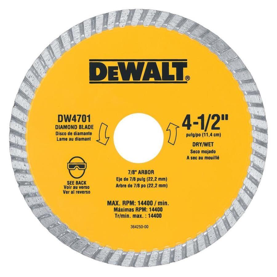 Dewalt Xp Diamond 4 5 In Diamond Arbor Grit Grinding Wheel Dw4701 Circular Saw Blades Dewalt Saw Blade