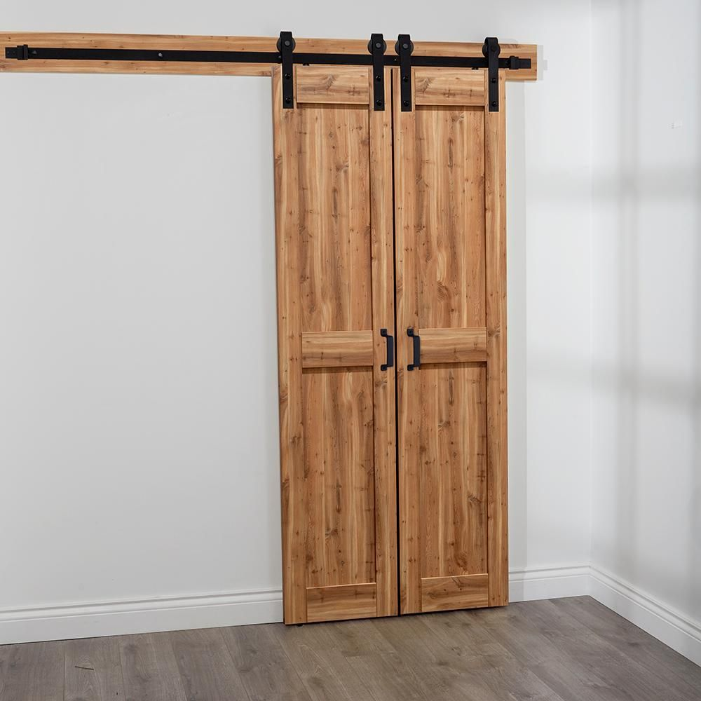 Truporte 18 In X 84 In Pine Green Duplex Mdf Barn Door With