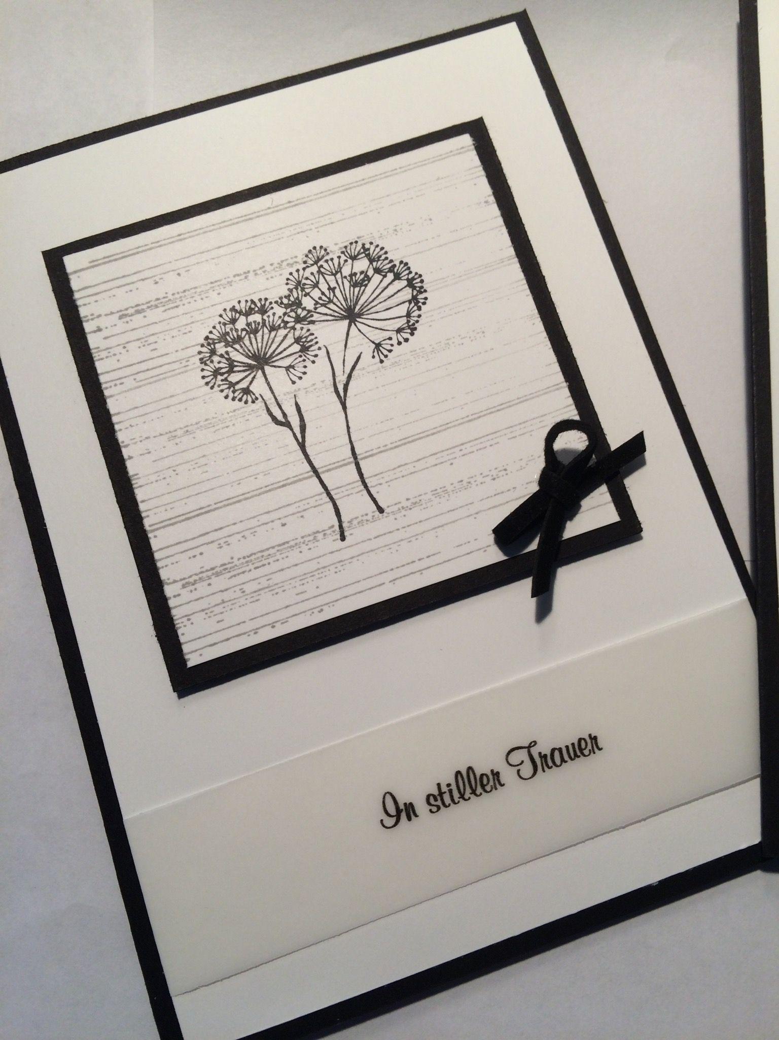 Eine Trauerkarte erstellt mit Stampin´up Produkten und