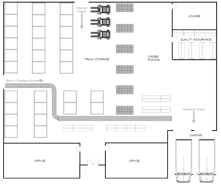 Warehouse Layout Design Software Free Download Floor Plan Layout Warehouse Layout Warehouse Floor Plan