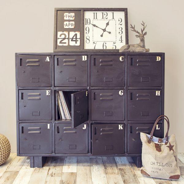 industrie design kommode metall schwarz auswahl 1 x industrie design m bel industry design. Black Bedroom Furniture Sets. Home Design Ideas