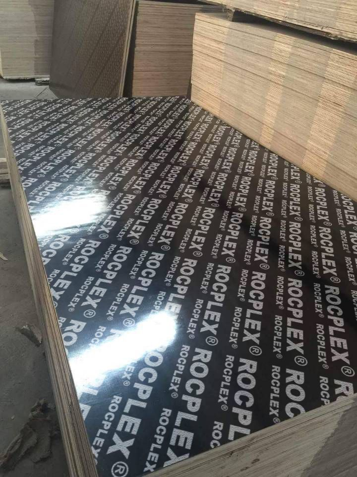 Rocplex Economical Black Glossy Film Faced Plywood Poplar Core Plywood