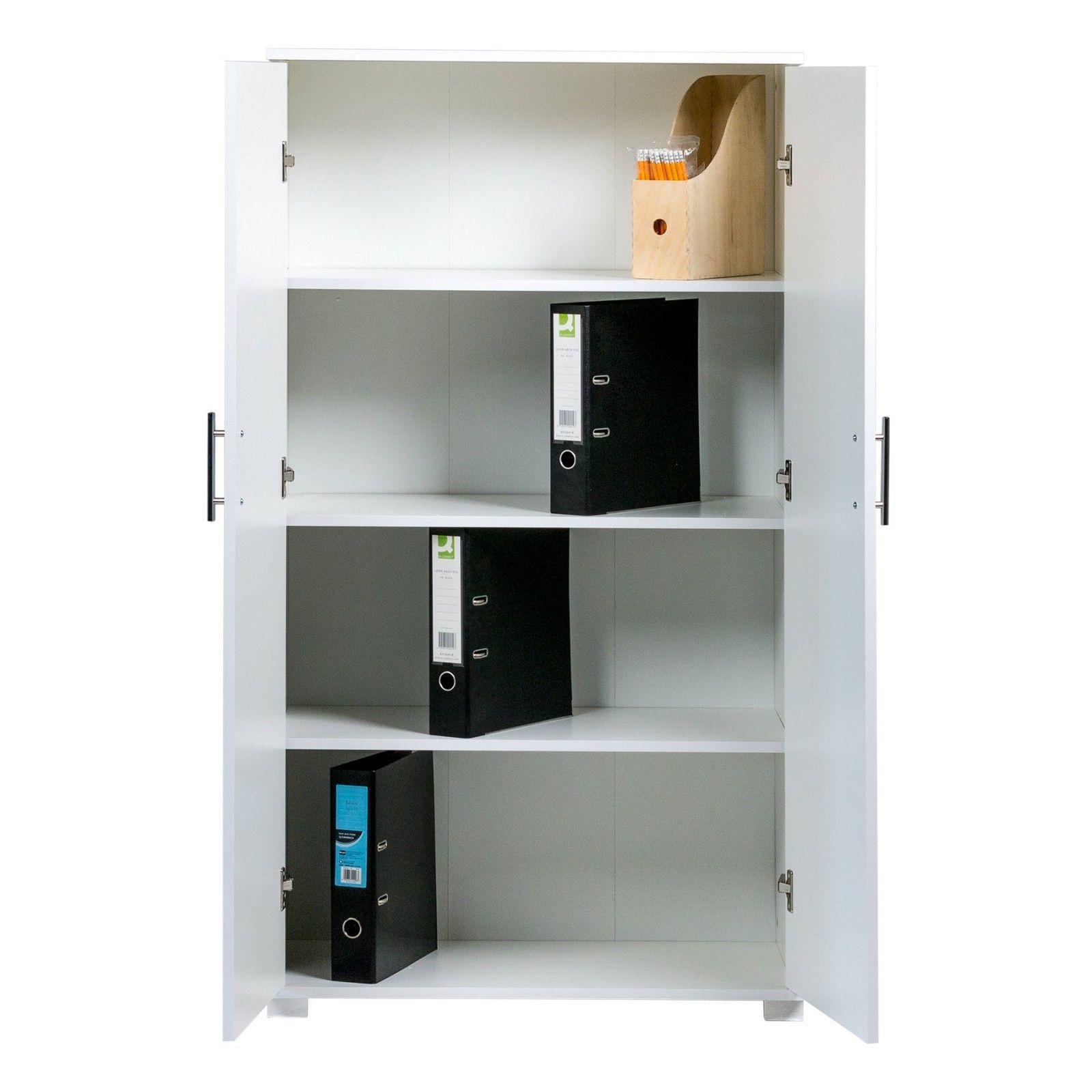 Tall 2 Door Pantry Utility Cabinet Storage Cupboard Wood Black Kitchen Office Sdrfurniture Contempora Black Kitchens Cupboard Storage Pantry Storage Cabinet