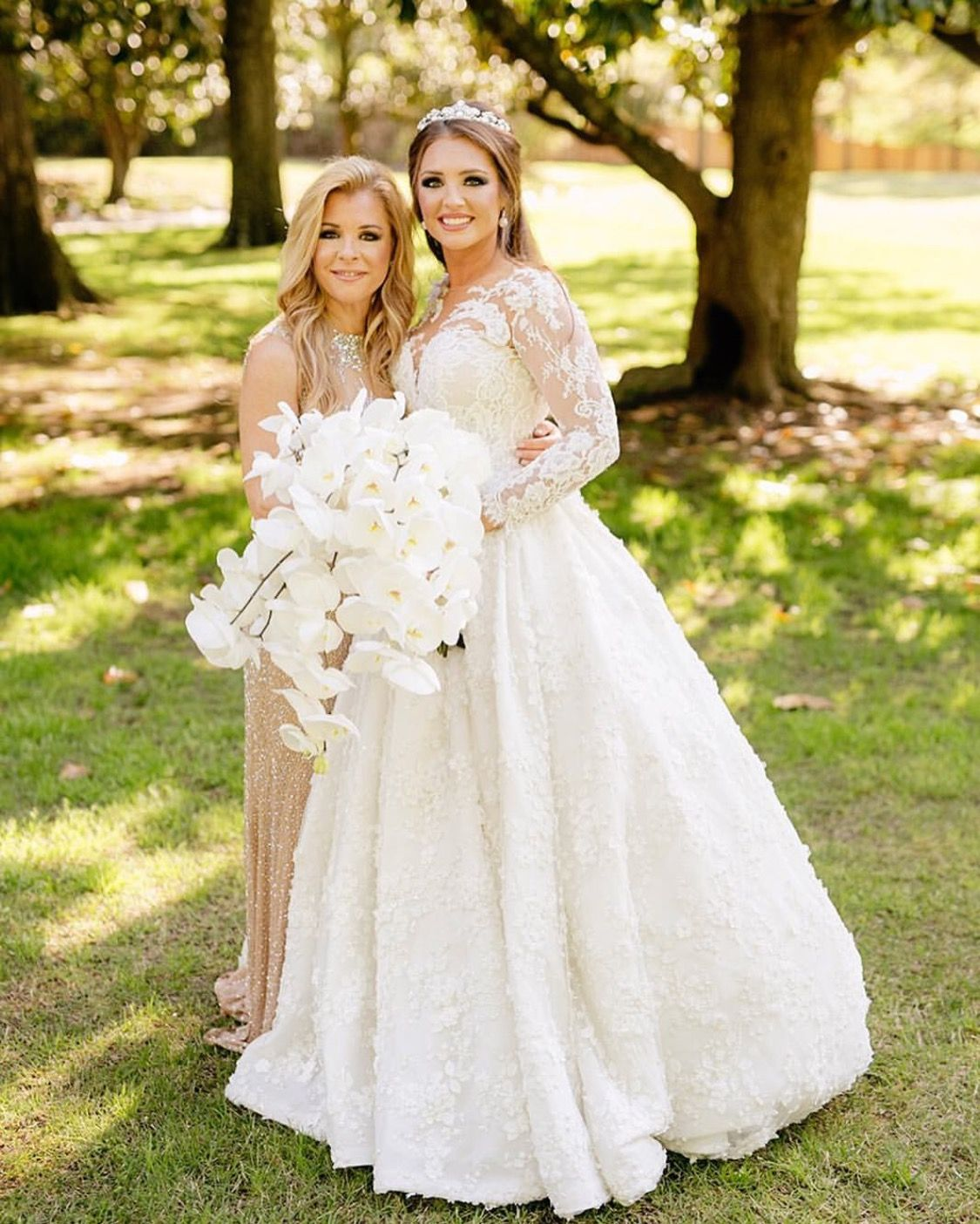 After The Wedding Dress Ideas: Collin Tuohy Wedding With Her Mom LeAnn Tuohy