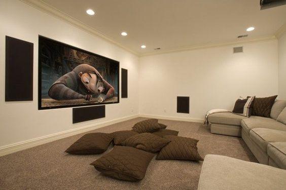 Unique Basement Movie Room