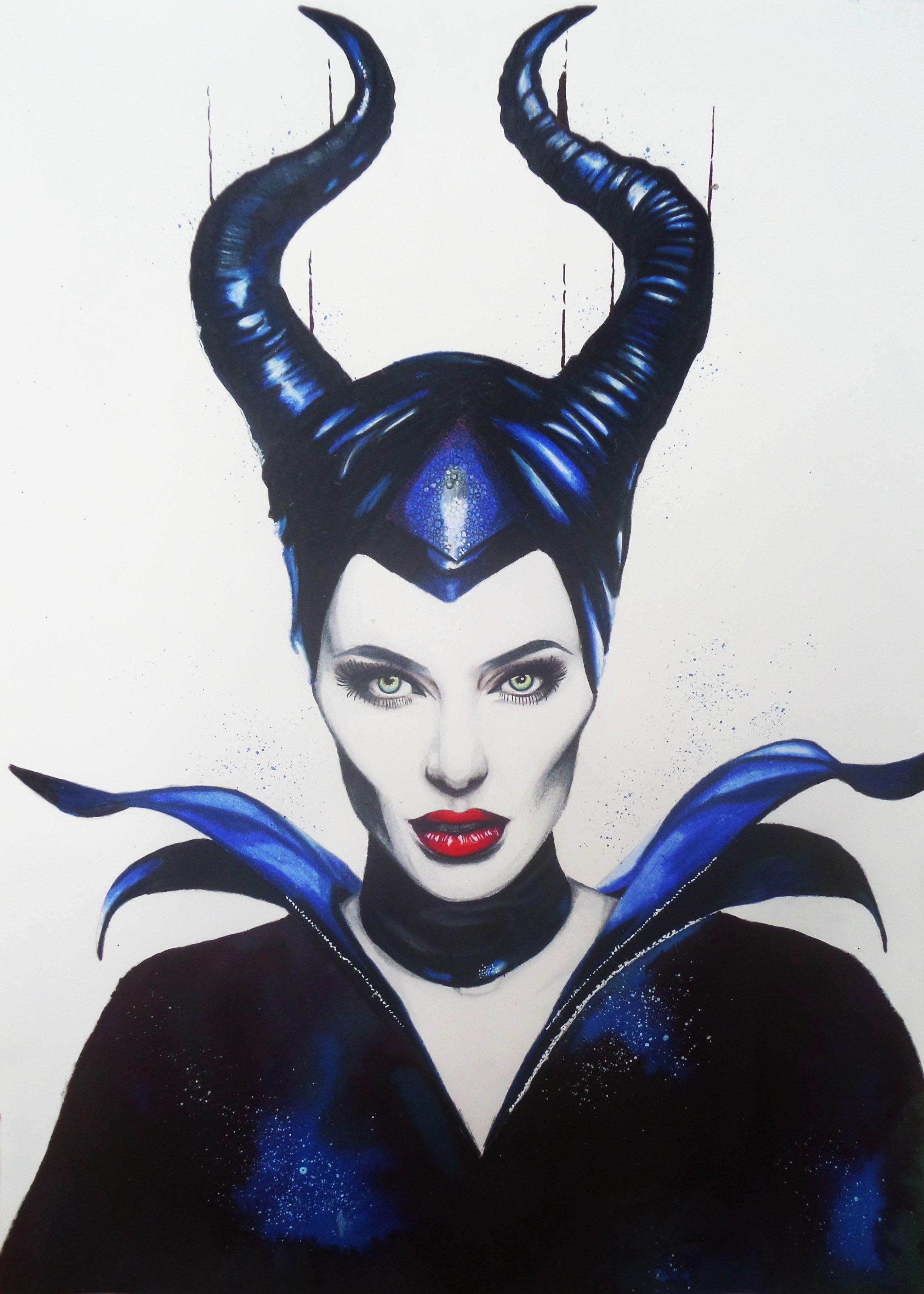 Maleficent Colored Pencils On Winsor And Newton Paper Dibujos Dibujos A Lapiz Tumblr Ilustraciones