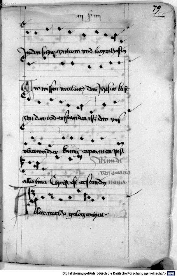 Mönch von Salzburg. Oswald von Wolkenstein: Geistliche Lieder mit Melodien Bayern/Österreich, erste Hälfte 15. Jh.: 3. Viertel 15. Jh. Cgm 715 Folio 171
