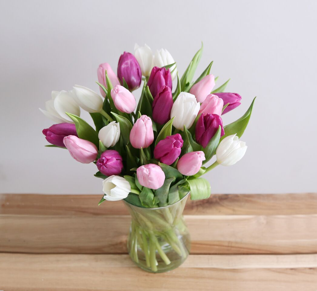 Beautiful And Simply Said Red Tulips Are A Hip Way To Show You Care Twenty Romantic Red Tuli Corporate Flowers Anniversary Flowers Flower Delivery
