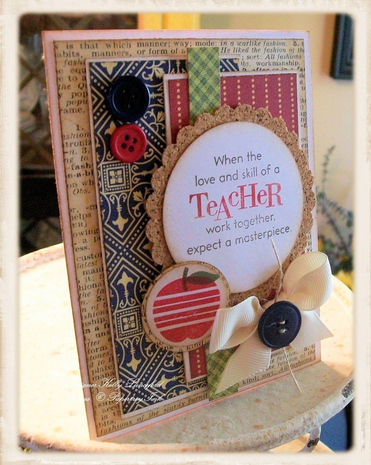 Card Making Ideas Retirement Part - 27: Teacheru0027s Apple Love The Layers. Handmade Card