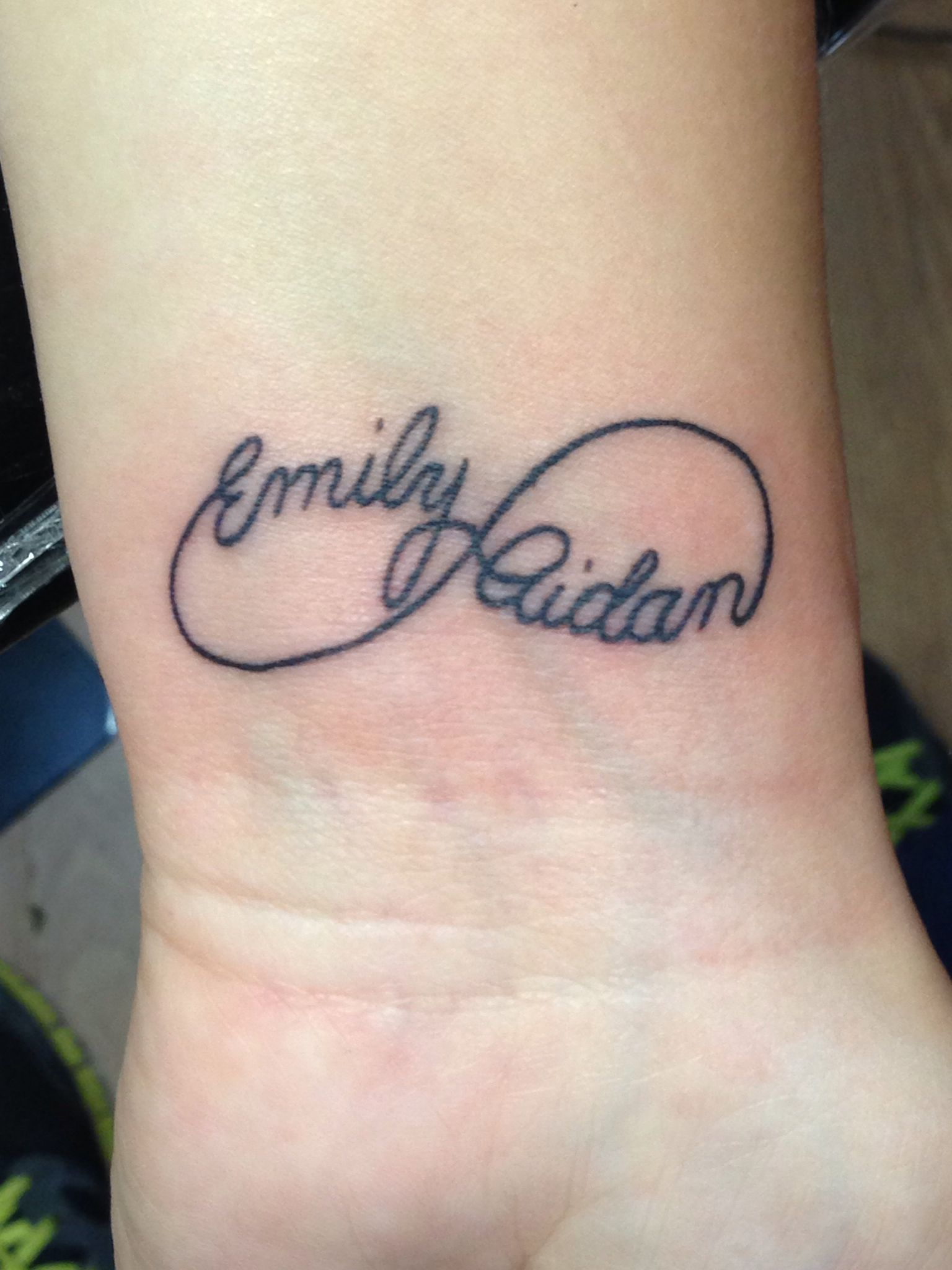 Similar styling to how I want my next one, with the kids names but ...