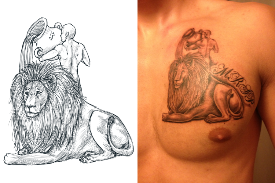 Zodiac Tattoo Images Zodiac Tattoo Images Awesome Zodiac Tattoo Aquarius Tattoo Leo And Aquarius Leo Symbol Tattoos