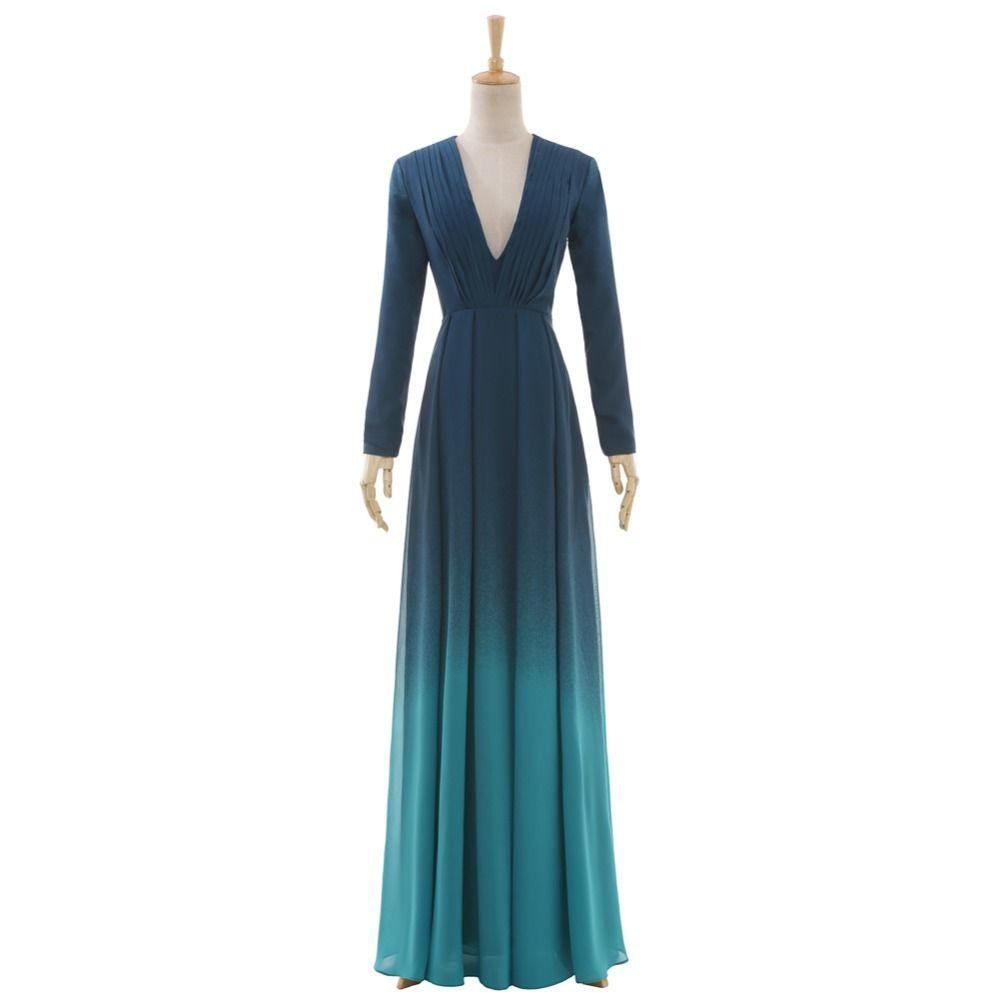 Find more prom dresses information about gradient prom dress vneck