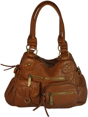 Whole Vegan Leather Purse Satchel Handbag With Pockets Light Brown