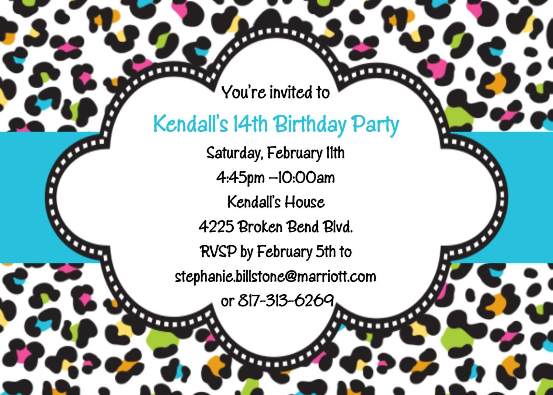 Leopard print Birthday Invitation by cutiesTieDyeBoutique, $15.00 ...