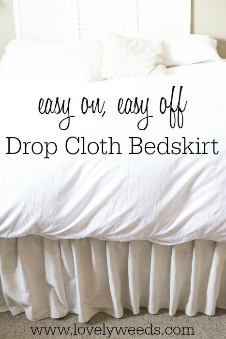 Drop Cloth Bed Skirt.Drop Cloth Bed Skirt Diy Sewing Colorful Curtains