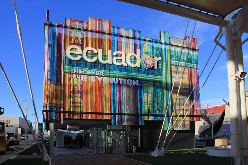 Expo Milano Stand Ecuador : The ecuador pavilion is clad with bright and vibrant