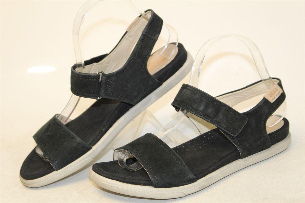 Ankle Womens Wx 8 Leather Black 39 5 Shoes 8 Strap Sandals Ecco SzUMpV