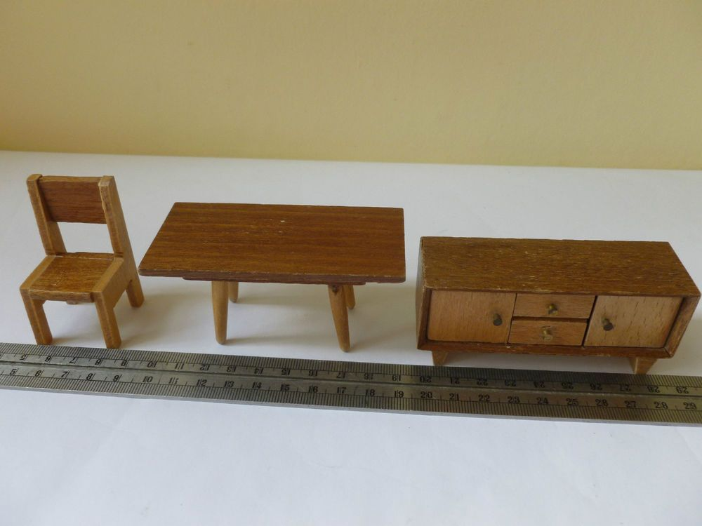 BARTON Small Collection Of Furniture   Vintage Dolls House Furniture 1:16  Scale