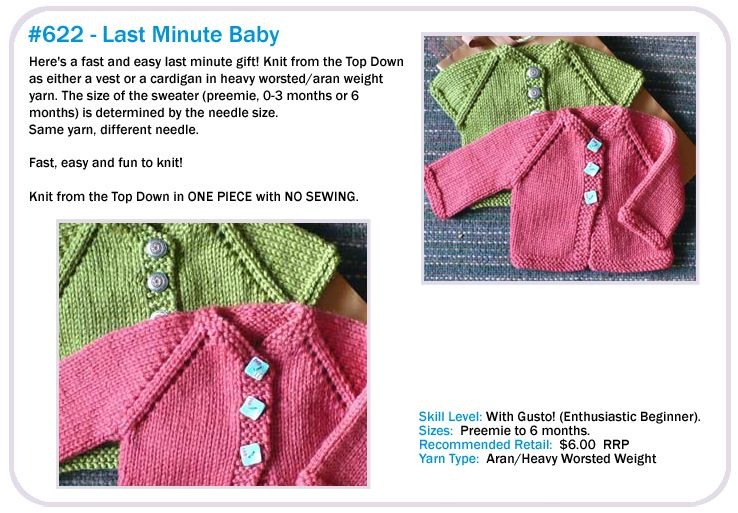 Cute Baby Sweater With No Sewing Cabin Fever Knitting