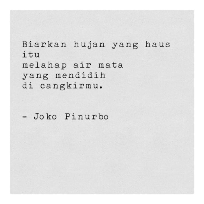 Joko Pinurbo Indonesian Poets Quotes Poems Dan Quotations