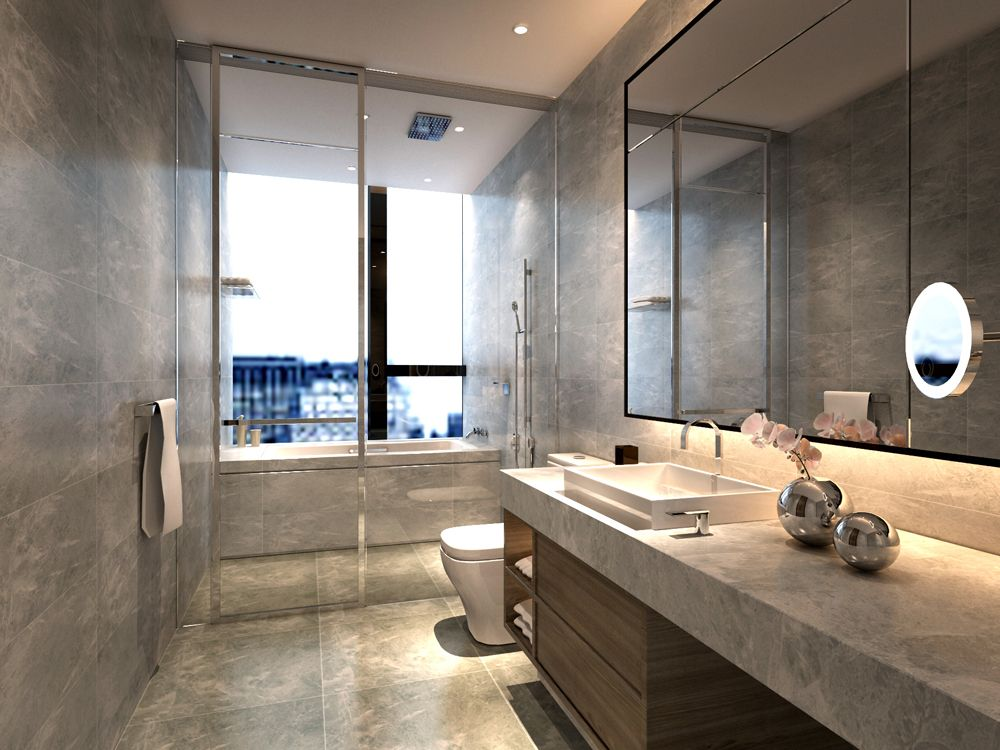 Service Apartment Interior Design Mocha   _unit10_ (3) Second Bathroom