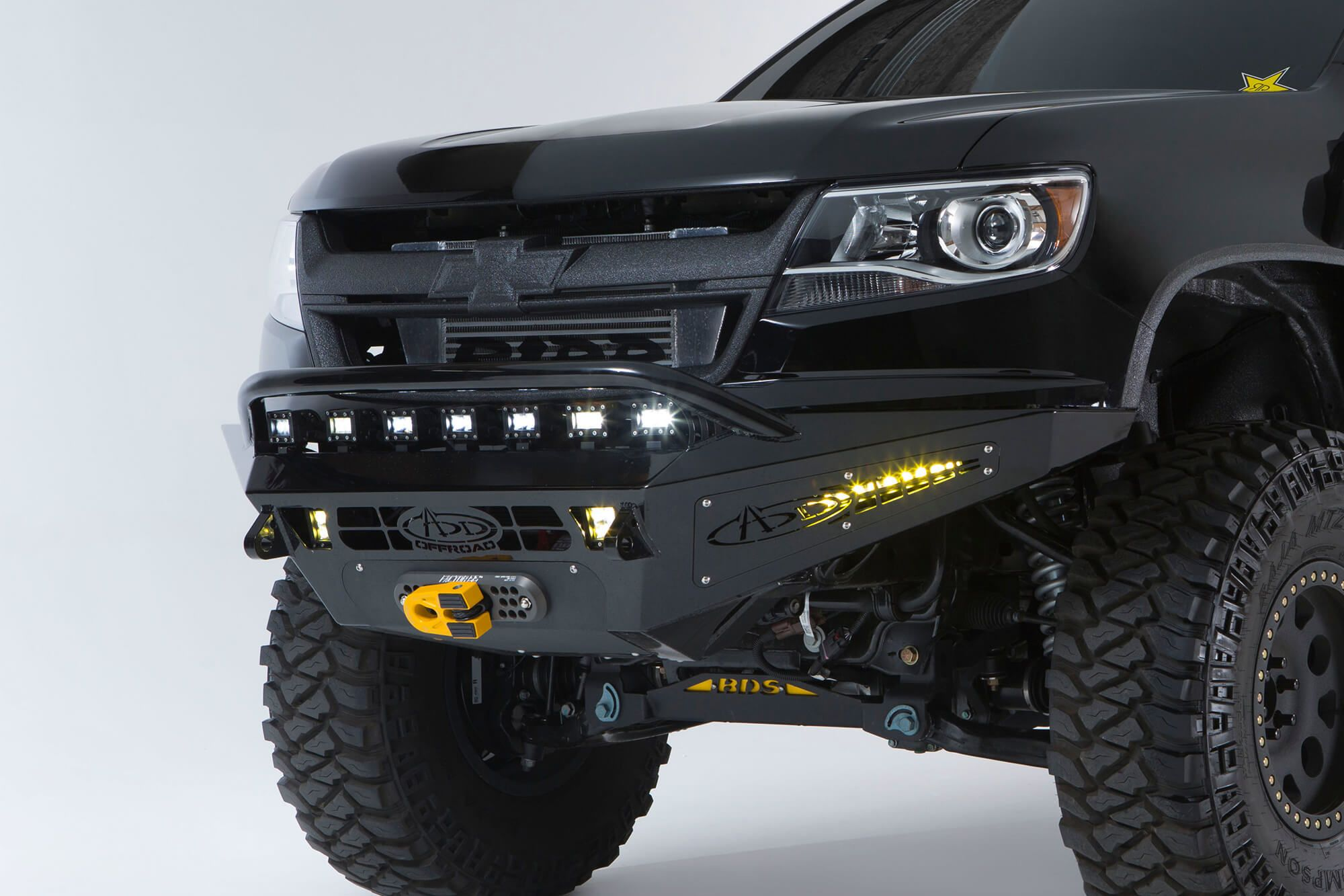 2015 up chevy colorado gmc canyon honeybadger winch front bumper