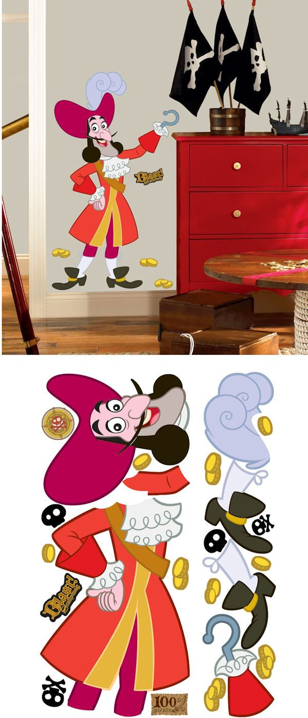 Jake and the Never Land Pirates Captain Hook Decal - Wall Sticker ...