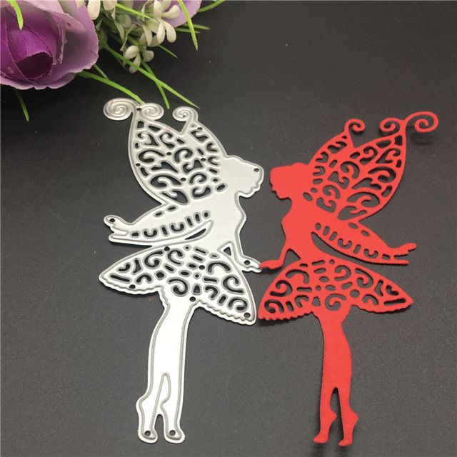 Fairy Kisses  Wand Hearts  die cutter Stencil Metal Cutting Dies Cards