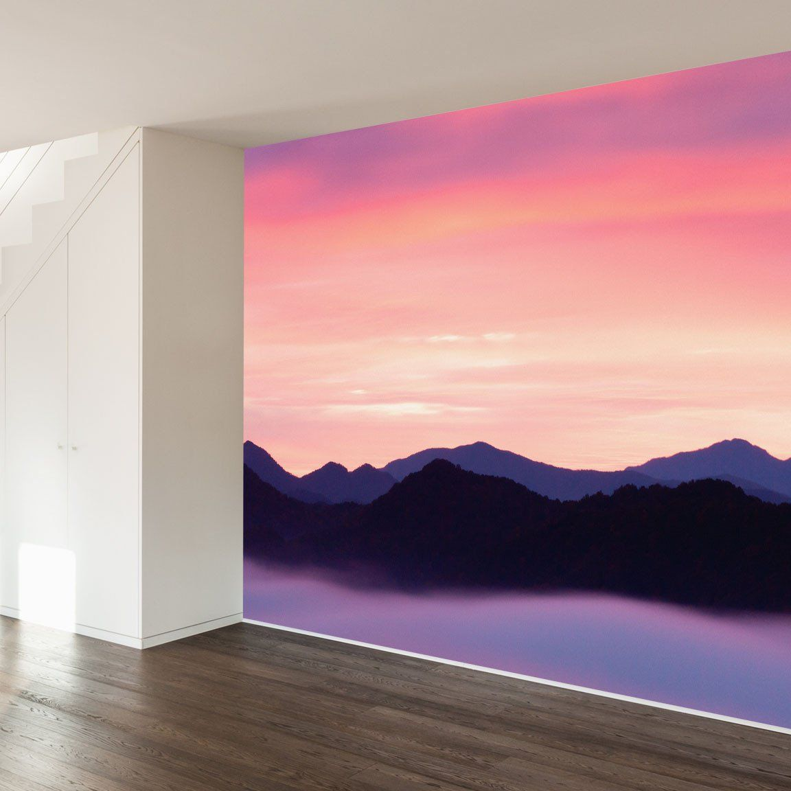 Paul Moores Rocky Mountain Sunset Mural Wall Decal Mountain