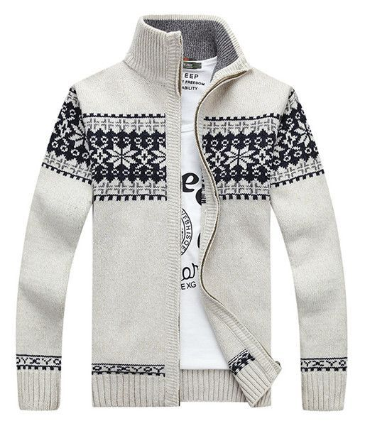 Fair Isle Full-Zip Sweater White | B Fashion Item | Pinterest ...
