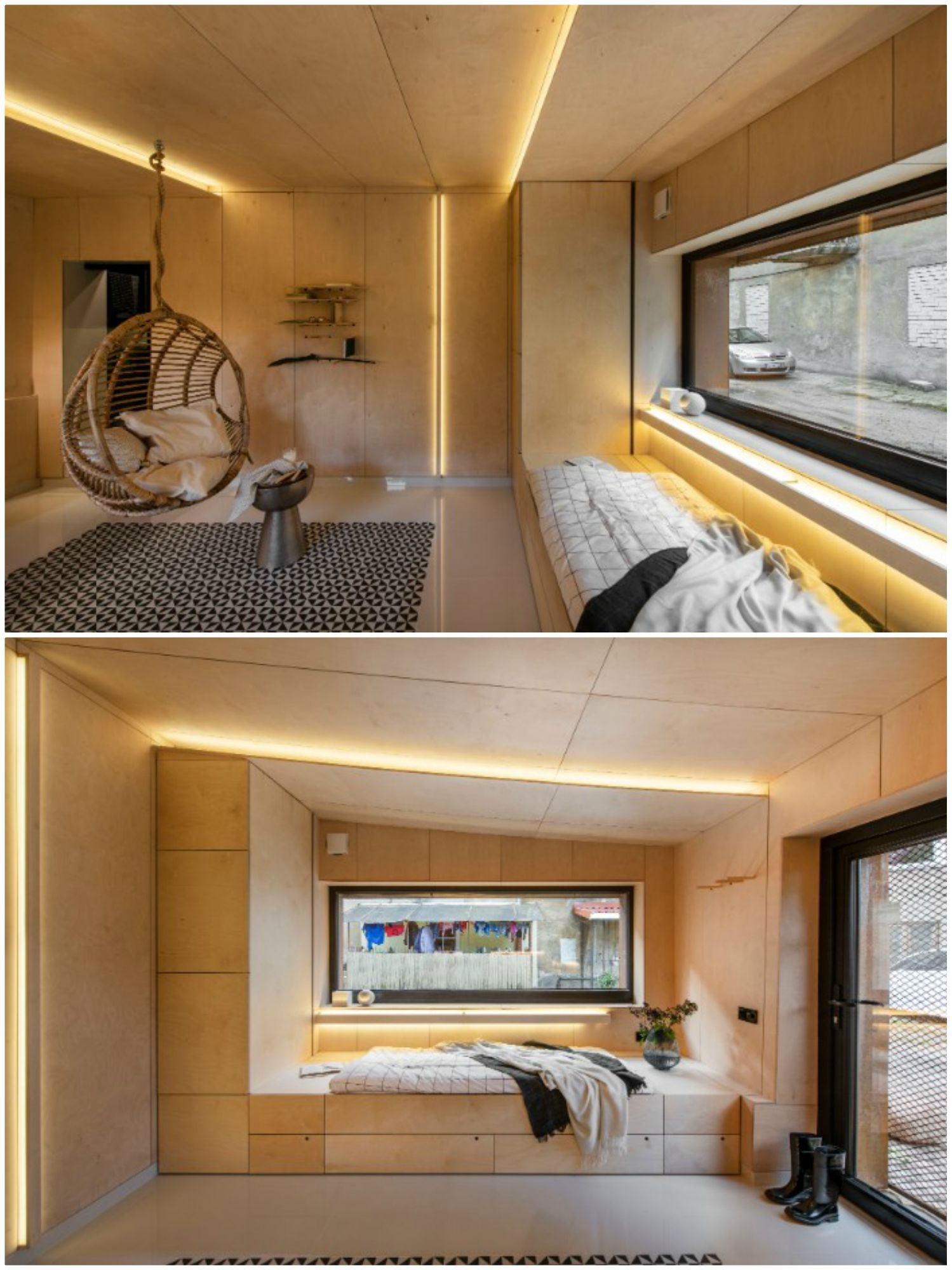 Dilapidated Garage Was Turned Into A Stunning 21 M2 Micro Home Living In A Shoebox Home Micro House Dilapidated