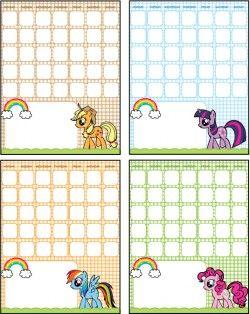 Calendars Calendars My Little Pony Printable My Little Pony