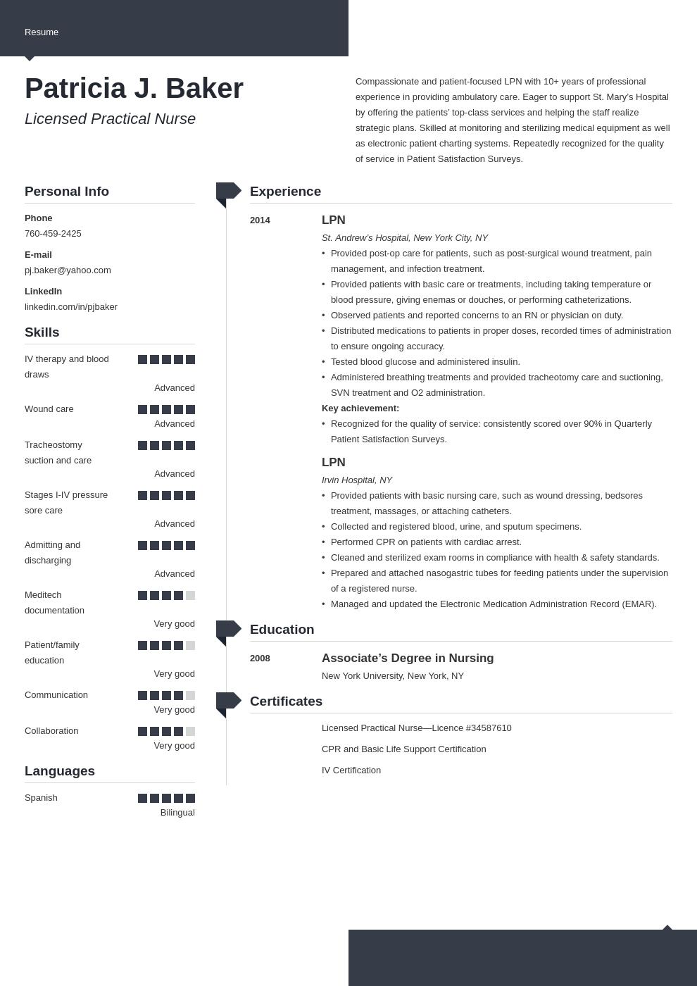 lpn resume example template modern in 2020 Lpn resume