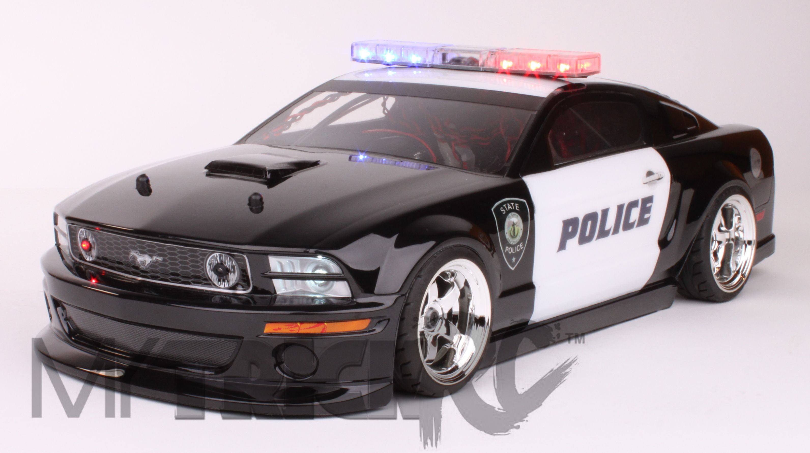 A Rc Police Car Tricked Out With Our Light Bar Car Body