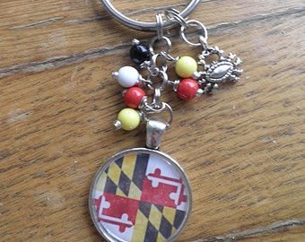 Baltimore maryland beaded charm key chain birthday fathers day baltimore maryland beaded charm key chain birthday fathers day mothers day easter gift negle Images