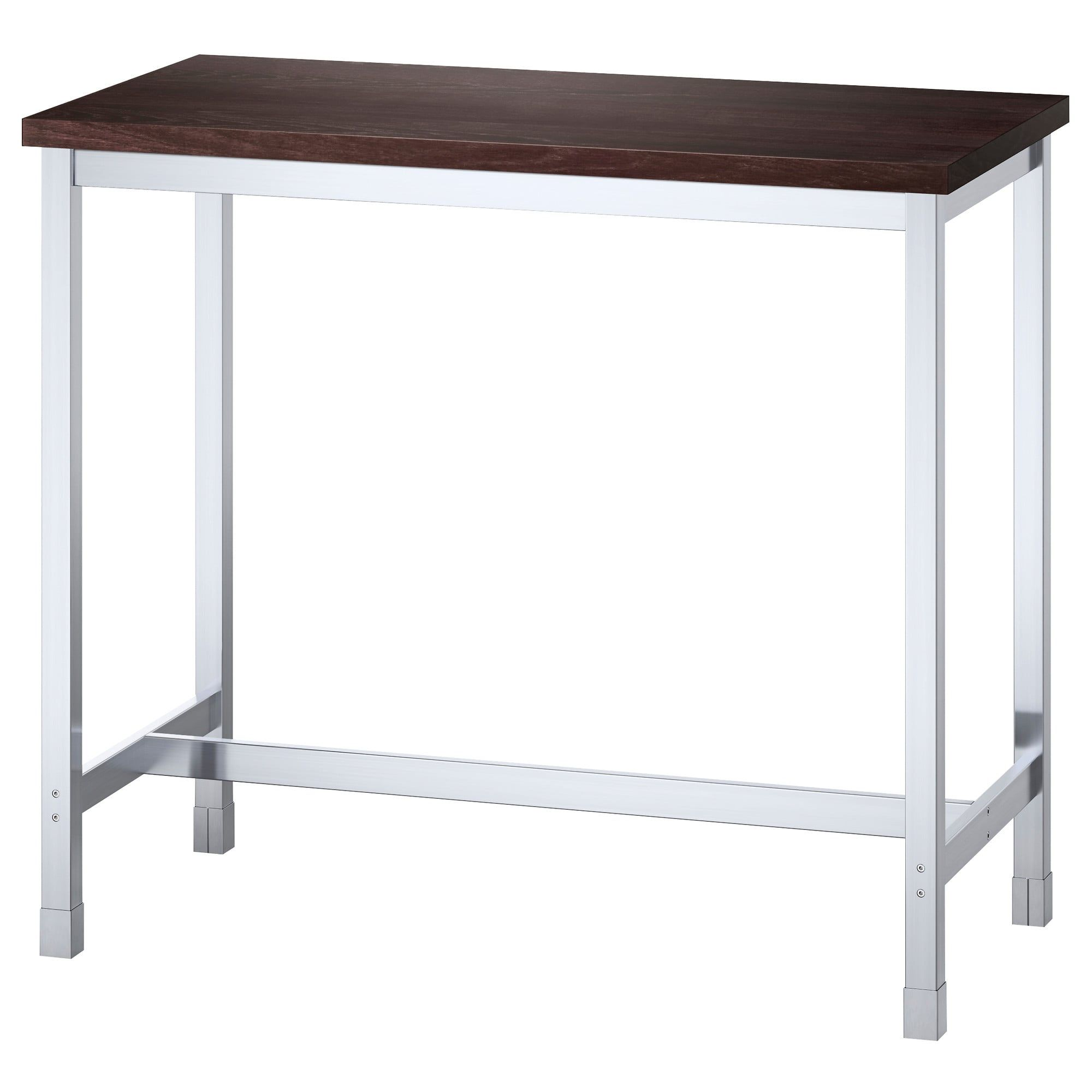 Table Haute De Bar Ikea Table De Bar Utby Brun Noir Acier Inoxydable Maison Meuble