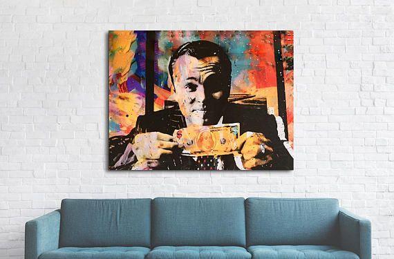 Wolf Of Wall Street Canvas Wall Art Money Talks Modern Pop Art Abstract Decor Invincible Wall Art Office Decor Wolf Of Wall Street Modern Pop Art Abstract Canvas Wall Art