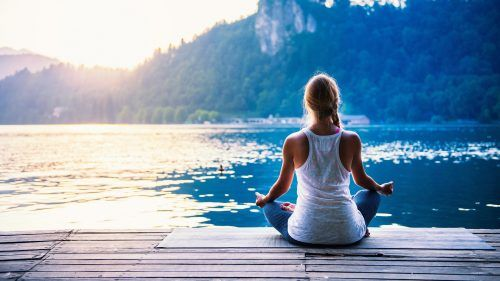 Picture Of Yoga Girl Beside The Lake For Wallpaper Hd Wallpapers Wallpapers Download High Resolution Wallpapers Meditation Meditation Techniques Spiritual Meditation