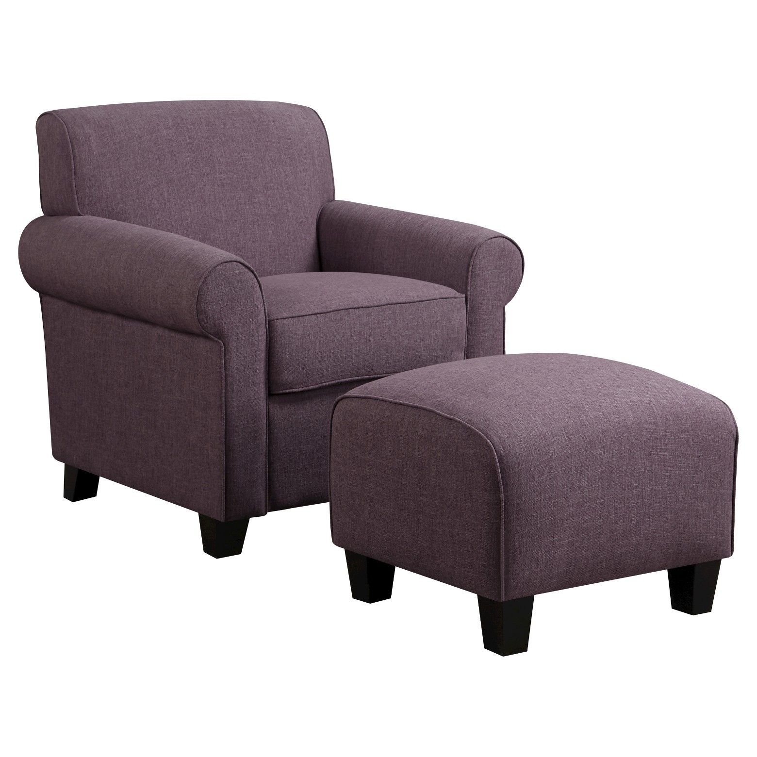 Wendy Rounded Linen Arm Chair Amp Ottoman Handy Living