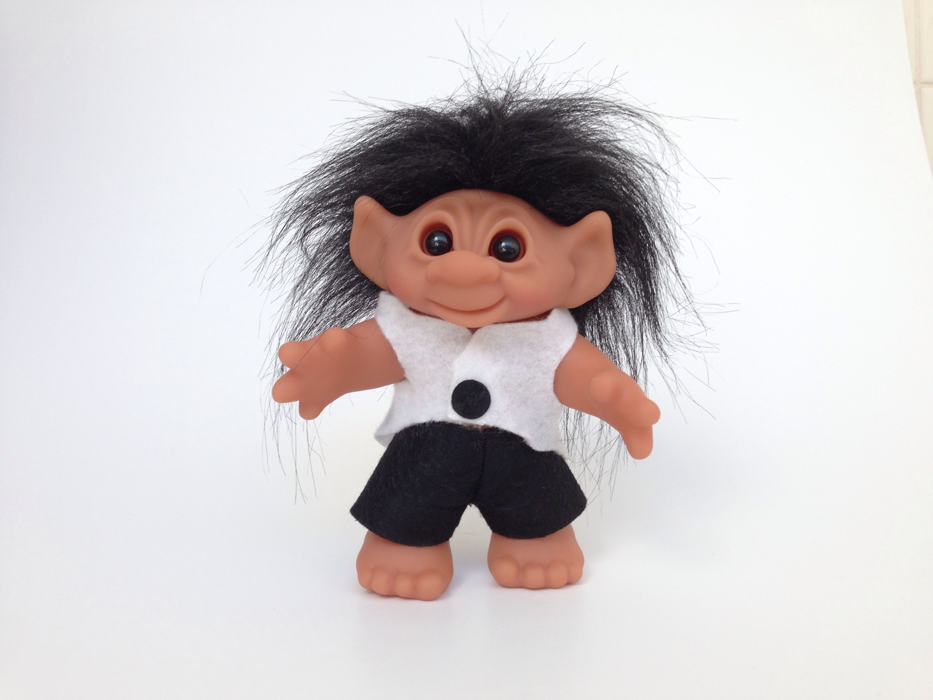 Black And White Lucky Troll Available At Info Karlssonswedishis Crazy Hair