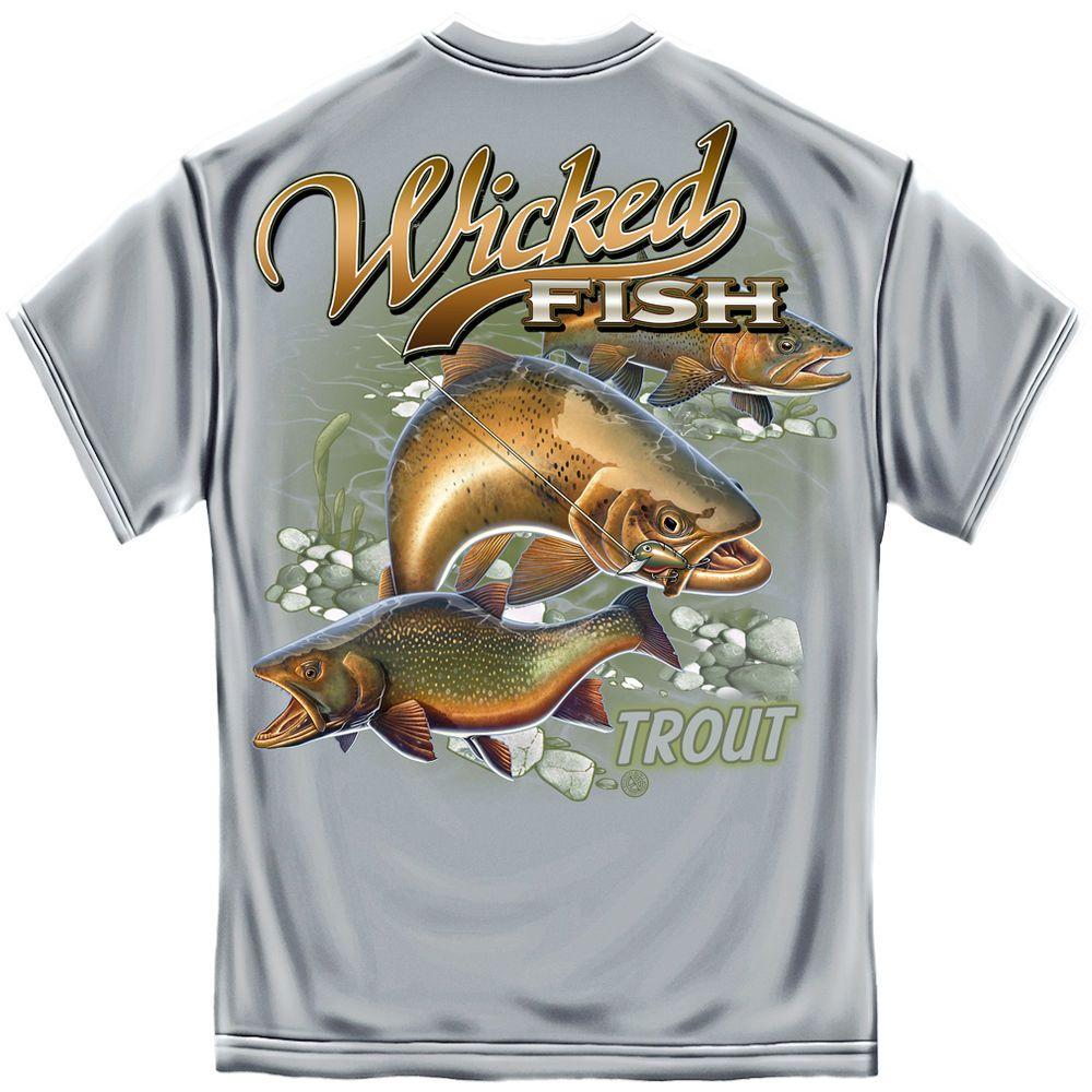 Trout Fishing T Shirt Grey Fishing Tee Shirts Fishing T Shirts T Shirt
