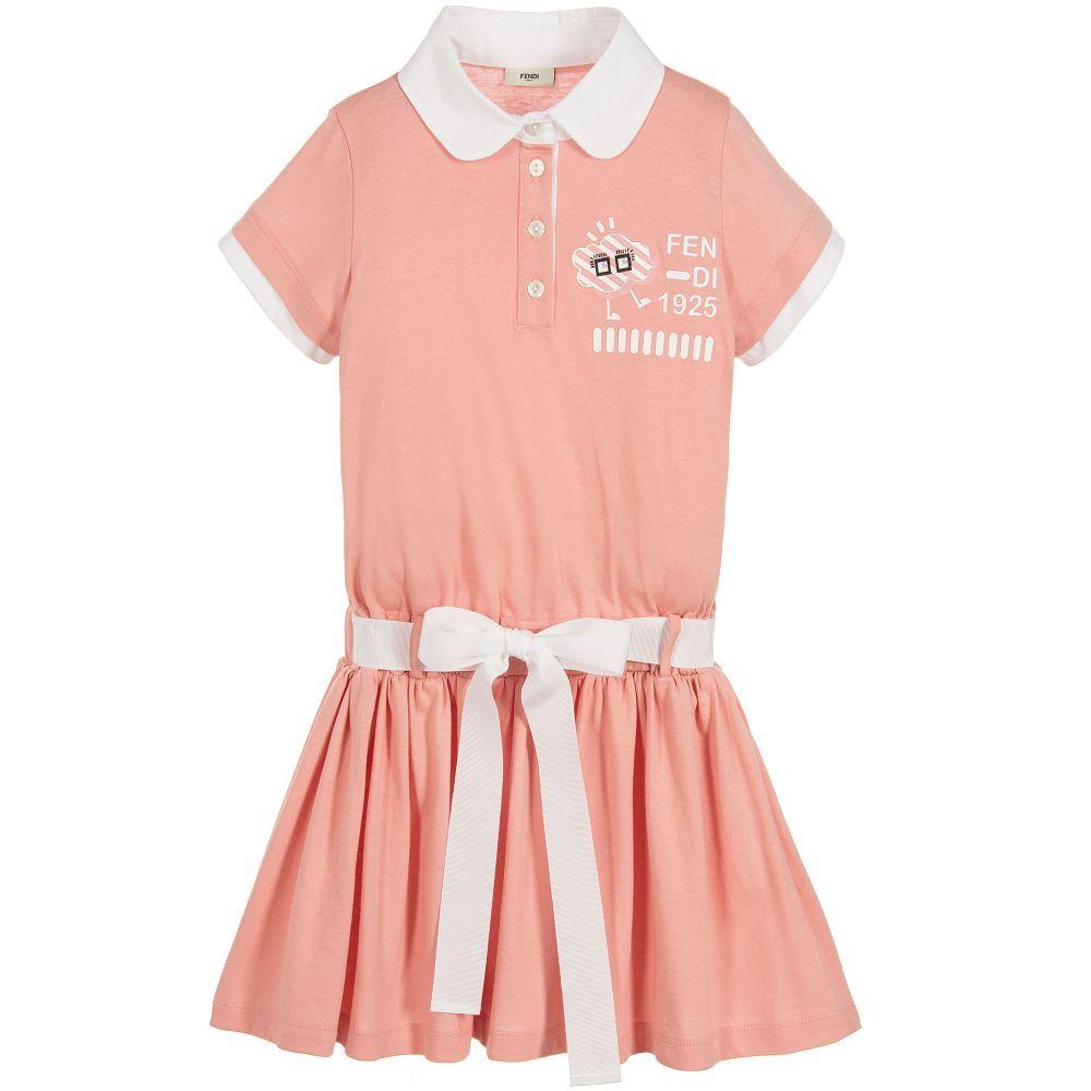 8ae61ed76acf Girls Pink Cotton Jersey Dress