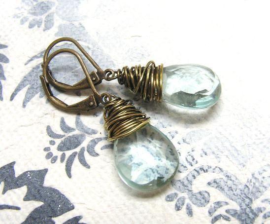Ohrhänger - Eistropfen Ohrringe - ein Designerstück von Gentle-Breeze bei…