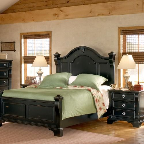 black bedroom set. Hummmm, or is it like this one?