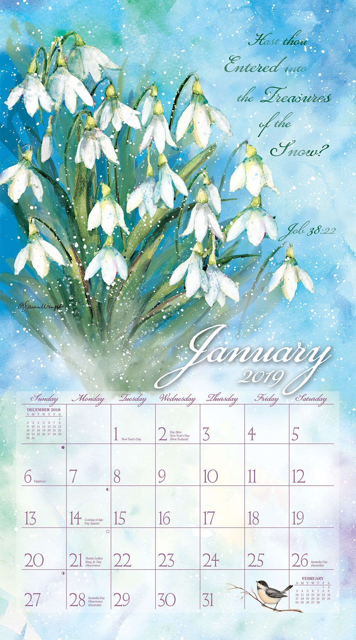 natures grace 2019 wall calendar full size wall calendars wall calendars