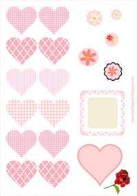 calcomanías de corazones rosados libres: